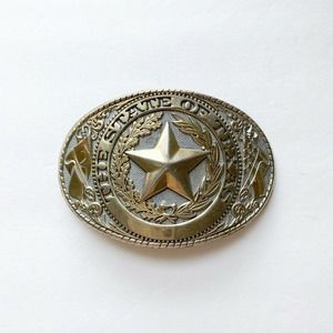 The State of TexasMade In USA Western Belt Buckle